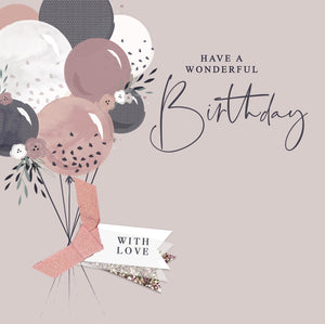 The Handcrafted Card Company Wonderful Birthday Balloons Card