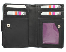 Mala Leather Origin Small Tab Purse with RFID Protection (3118 5)- Black