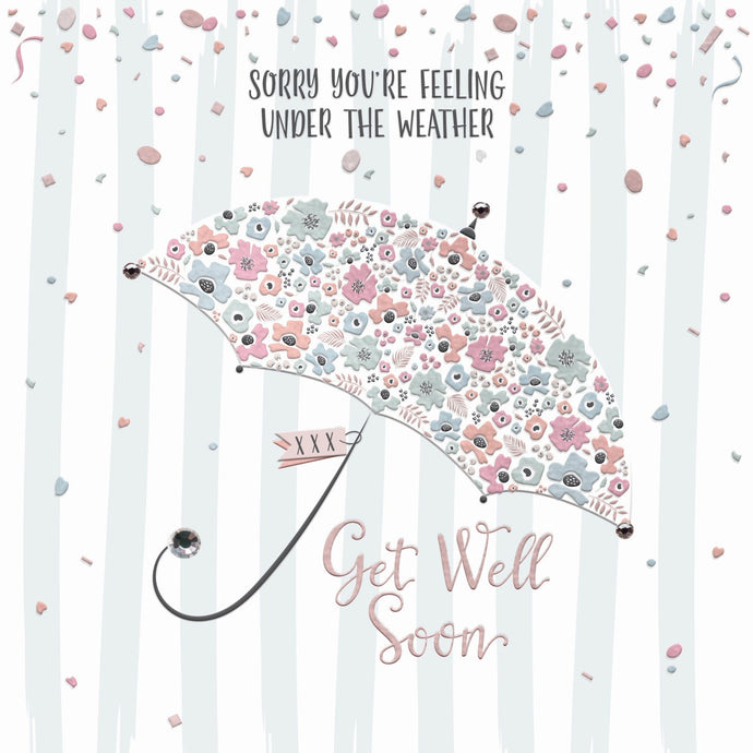 Get Well Soon Umbrella Card