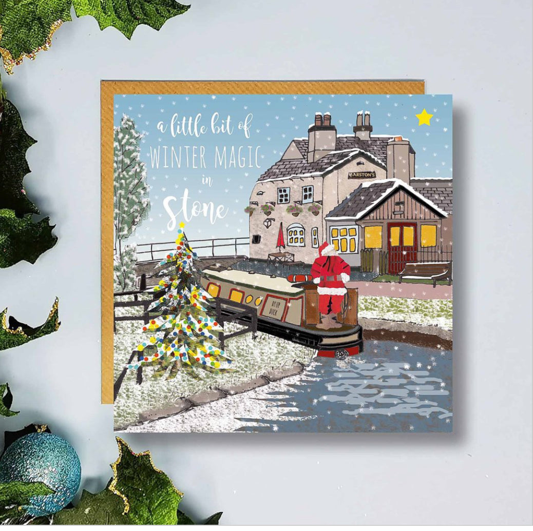 Flying Teaspoon Stone Star Lock Christmas Card