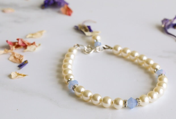 Jolu Jewellery Millie Bracelet -Air Opal Blue
