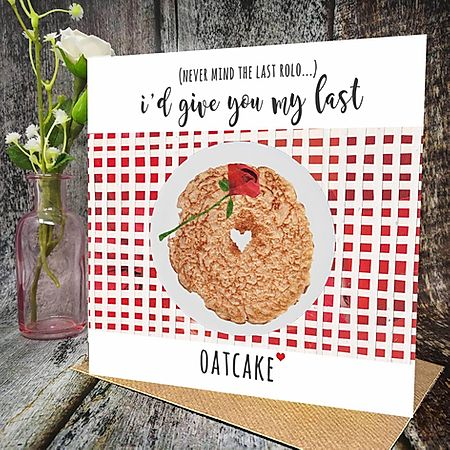 Flying Teaspoon Last Oatcake Card