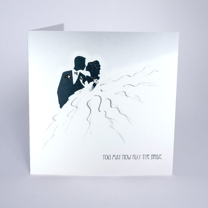 Five Dollar Shake You May Now Kiss the Bride Wedding Card