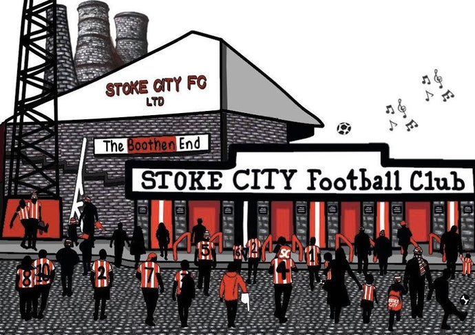 Megan Rose Design Stoke City Boothen End Print