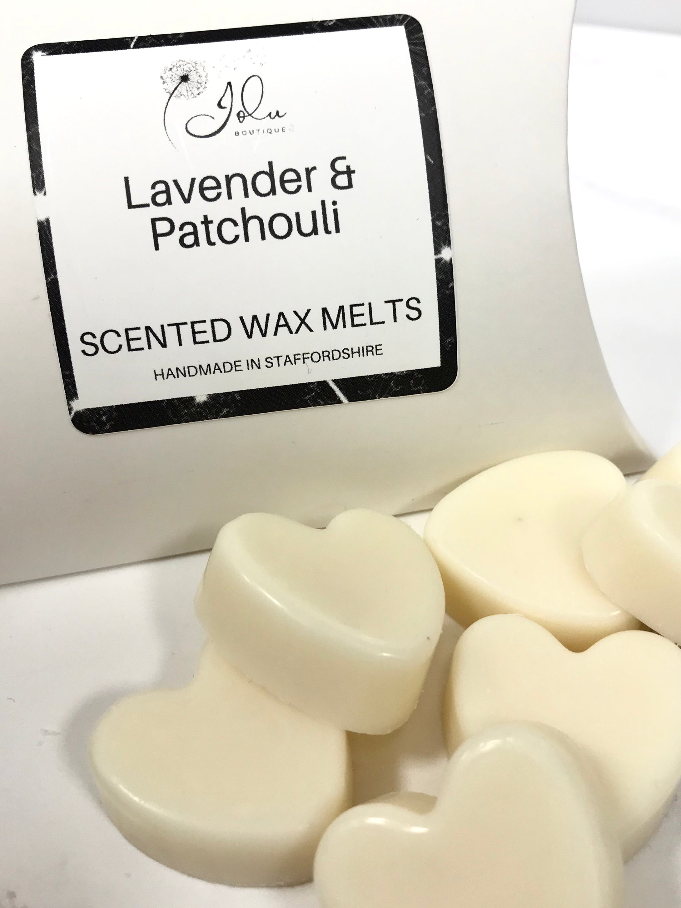 Jolu Boutique Lavender & Patchouli Soy Wax Melts - Pack 6 Hearts