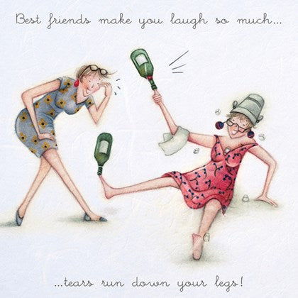 Berni Parker Blank Card -Best friends make you laugh