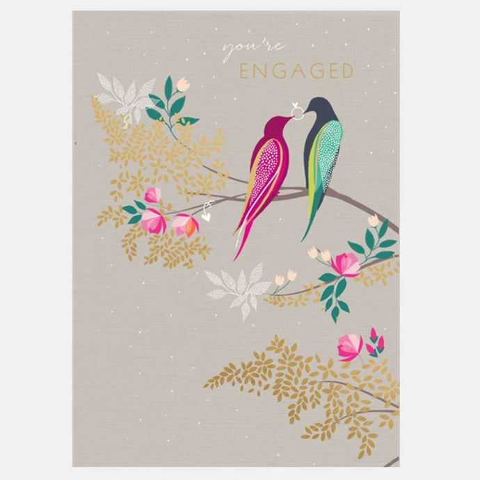 Sara Miller by The Art File - Engaged Birds Card