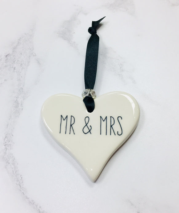 Dimbleby Ceramics Mr & Mrs Heart Small