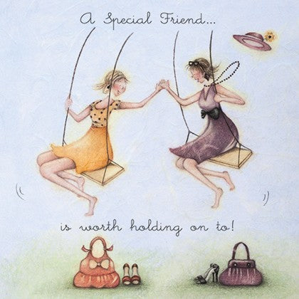 Berni Parker Blank Card -A Special Friend is Worth Holding on To
