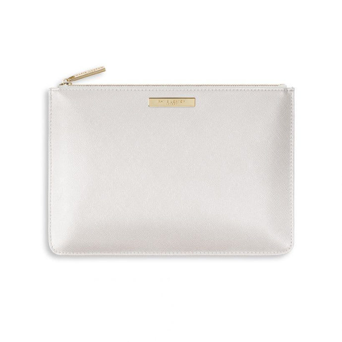 Katie Loxton Pouch - Maid of Honor - Metallic White