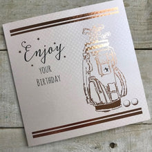 White Cotton Cards Golf Clubs Birthday Card