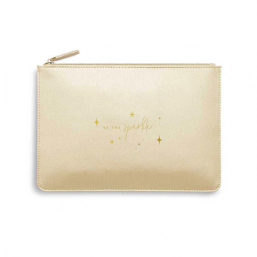 Katie Loxton Perfect Pouch- Be the Sparkle-  Gold