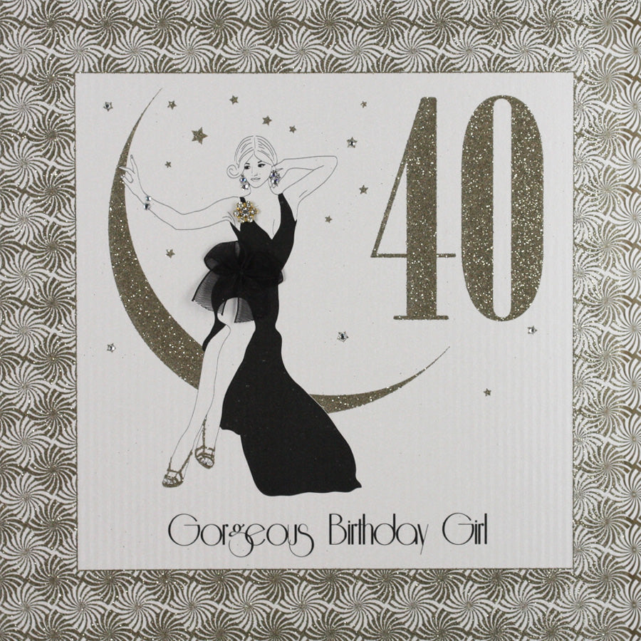 Five Dollar Shake LARGE 40th Gorgeous Birthday Girl Card