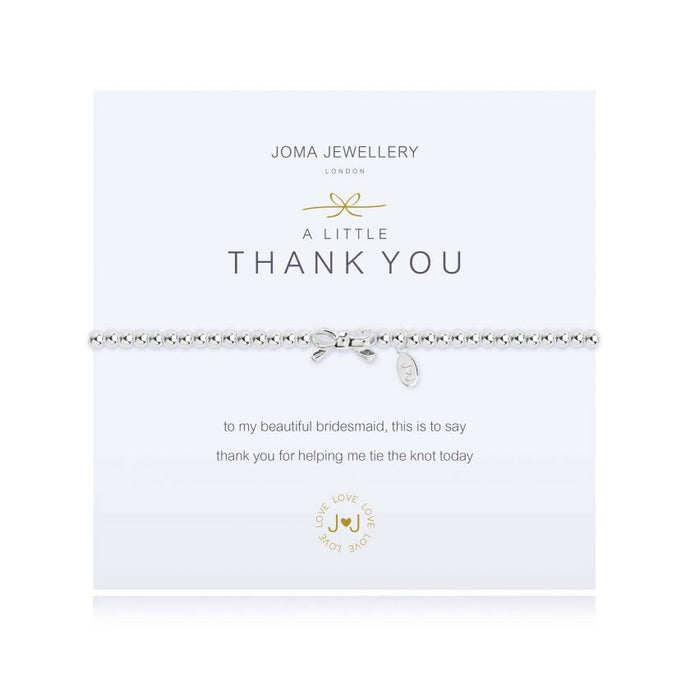 Joma Jewellery A Little Thank you (Bridesmaid) Bow Bracelet