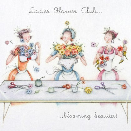 Berni Parker Blank Card - Ladies Flower Club