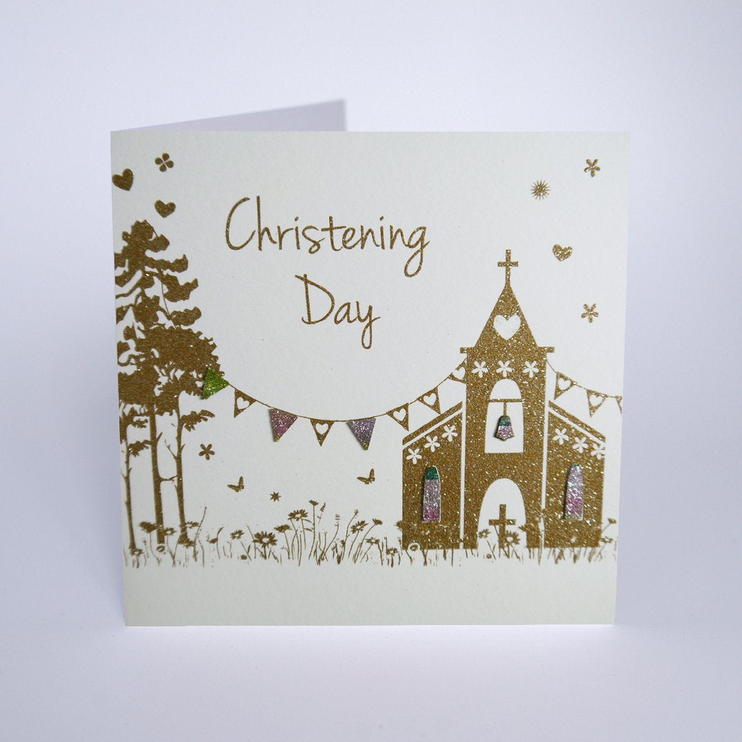Five Dollar Shake Christening Day Church Card