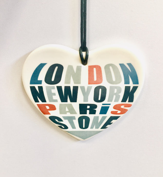 "Moorland Pottery ""London, New York, Paris, STONE"