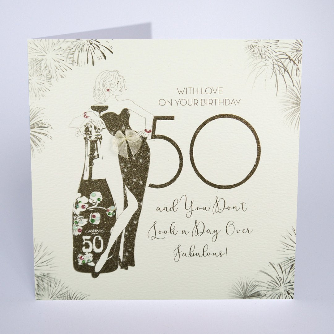 Five Dollar Shake LARGE 50 & Fabulous Birthday Card
