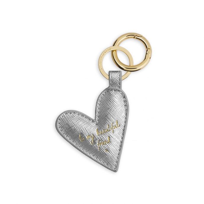 Katie Loxton Kara Keyring - To my beautiful Friend - Silver Heart