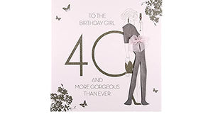 Five Dollar Shake LARGE 40th & More Gorgeous Than Ever Birthday Card