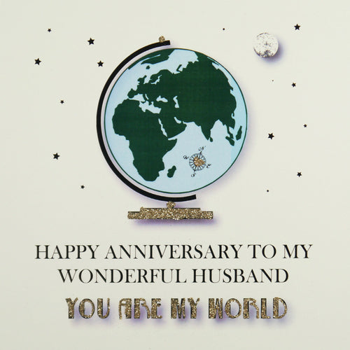 Five Dollar Shake Husband You are my World Anniversary Card