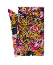 Powder Leopard Satin Neck Scarf - Beaumont Limited Edition