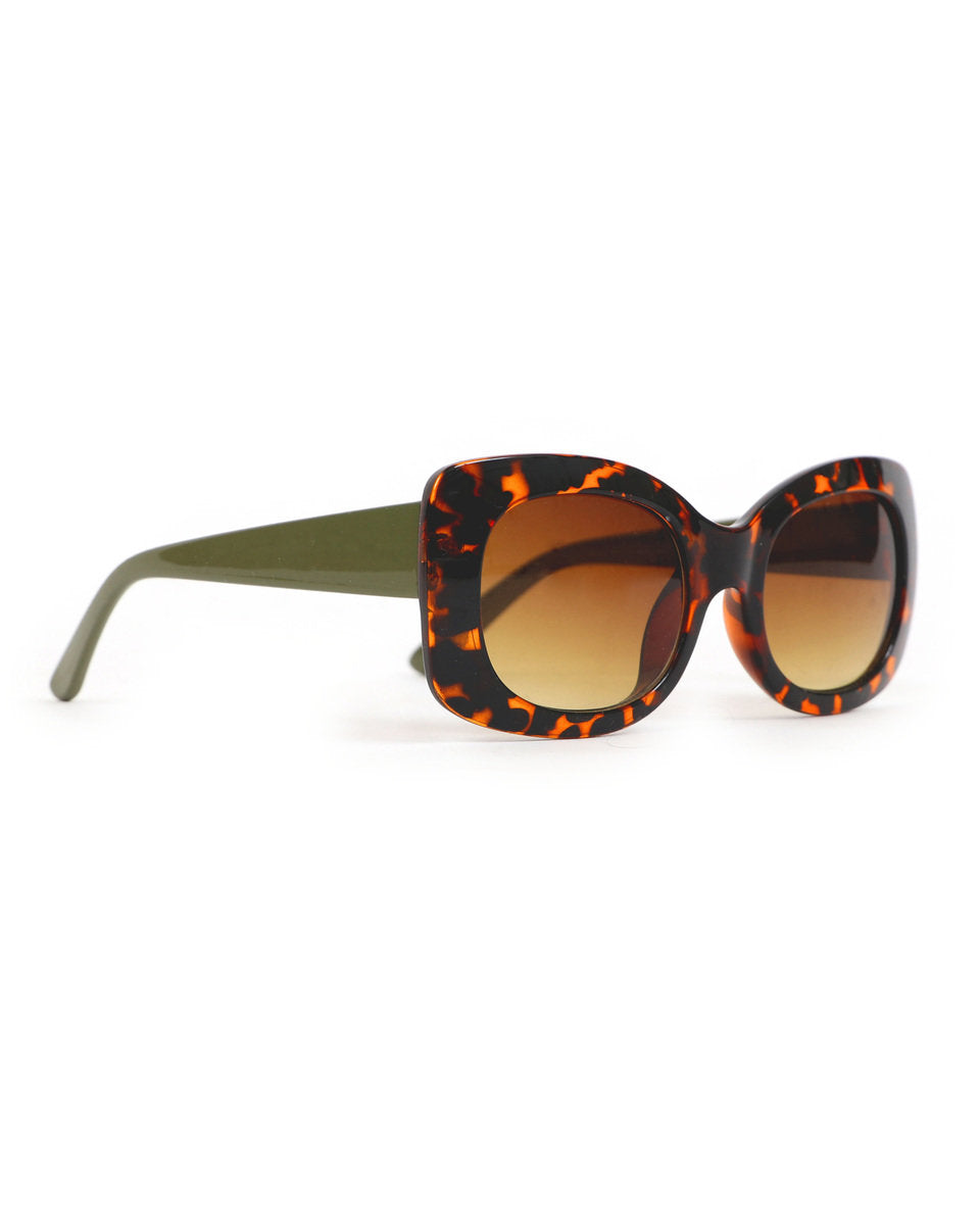 Powder Juliana Sunglasses - Olive/ Tortoiseshell