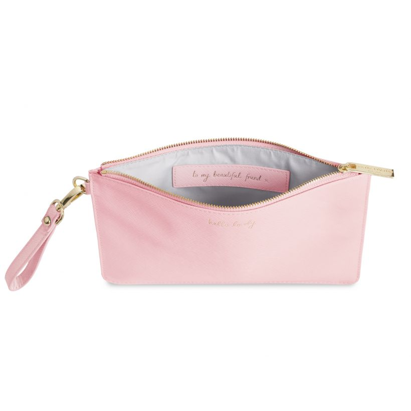 Katie Loxton Secret Message Pouch - Hello Lovely - Pink
