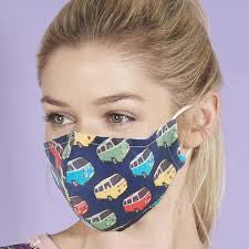 Eco Chic Reusable Face Covering - Navy Campervan