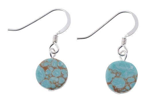 Carrie Elspeth Mosaic Coin Earrings - Turquoise