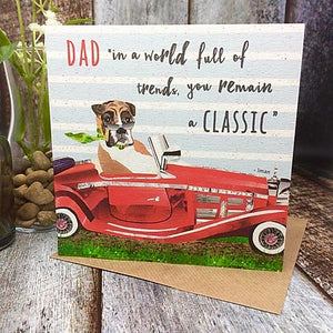 Flying Teaspoons Classic Car Dad Card
