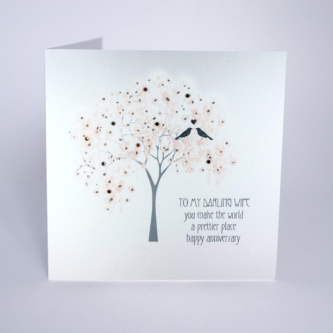 Five Dollar Shake Darling Wife Make the World a Prettier Place Anniversary Card