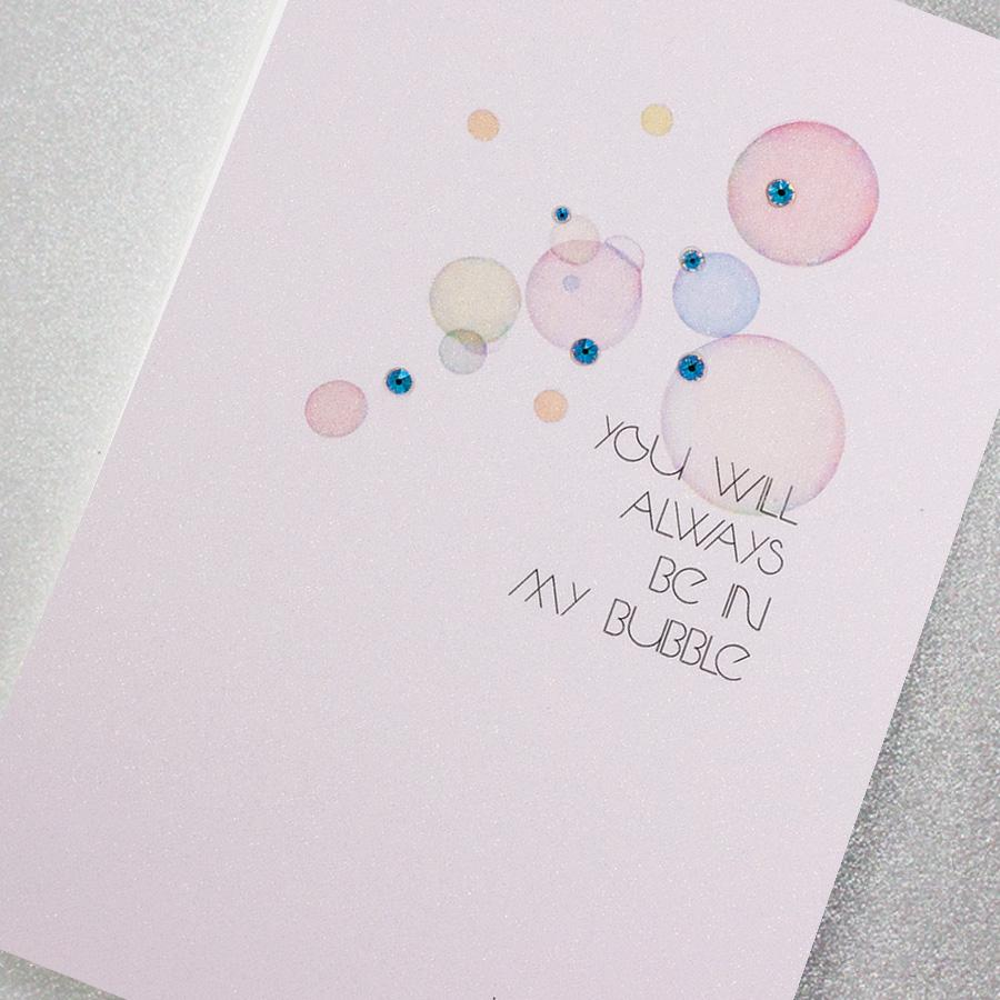 Counting Stars You will Always be in my Bubble Blank Card