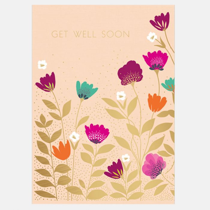 Sara Miller by The Art File - Get Well Flowers Card