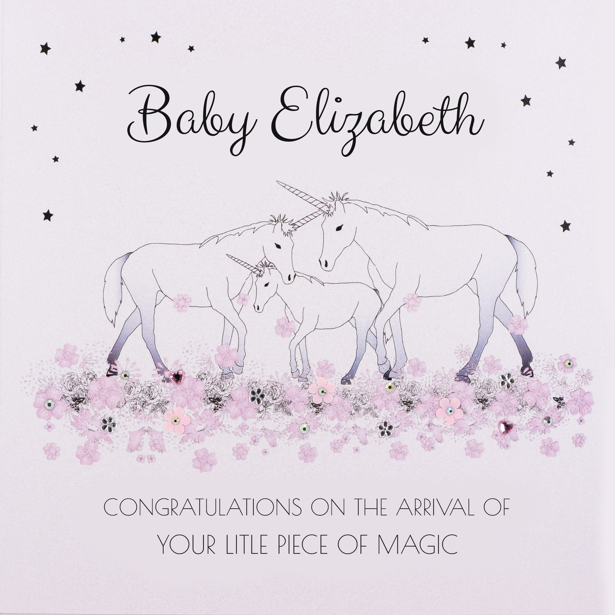 Personalised New Baby Card (PCBG7) Five Dollar Shake