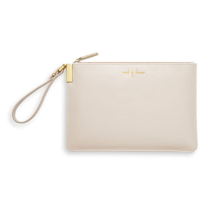 Katie Loxton Secret Message Pouch - Maid of Honour - Pearly White