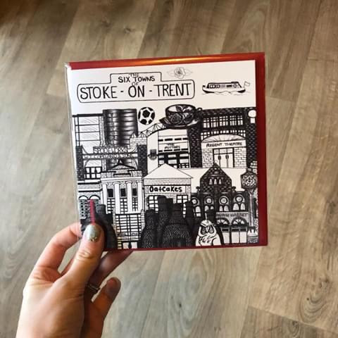 Megan Rose Design Six Towns of Stoke-on-Trent Card