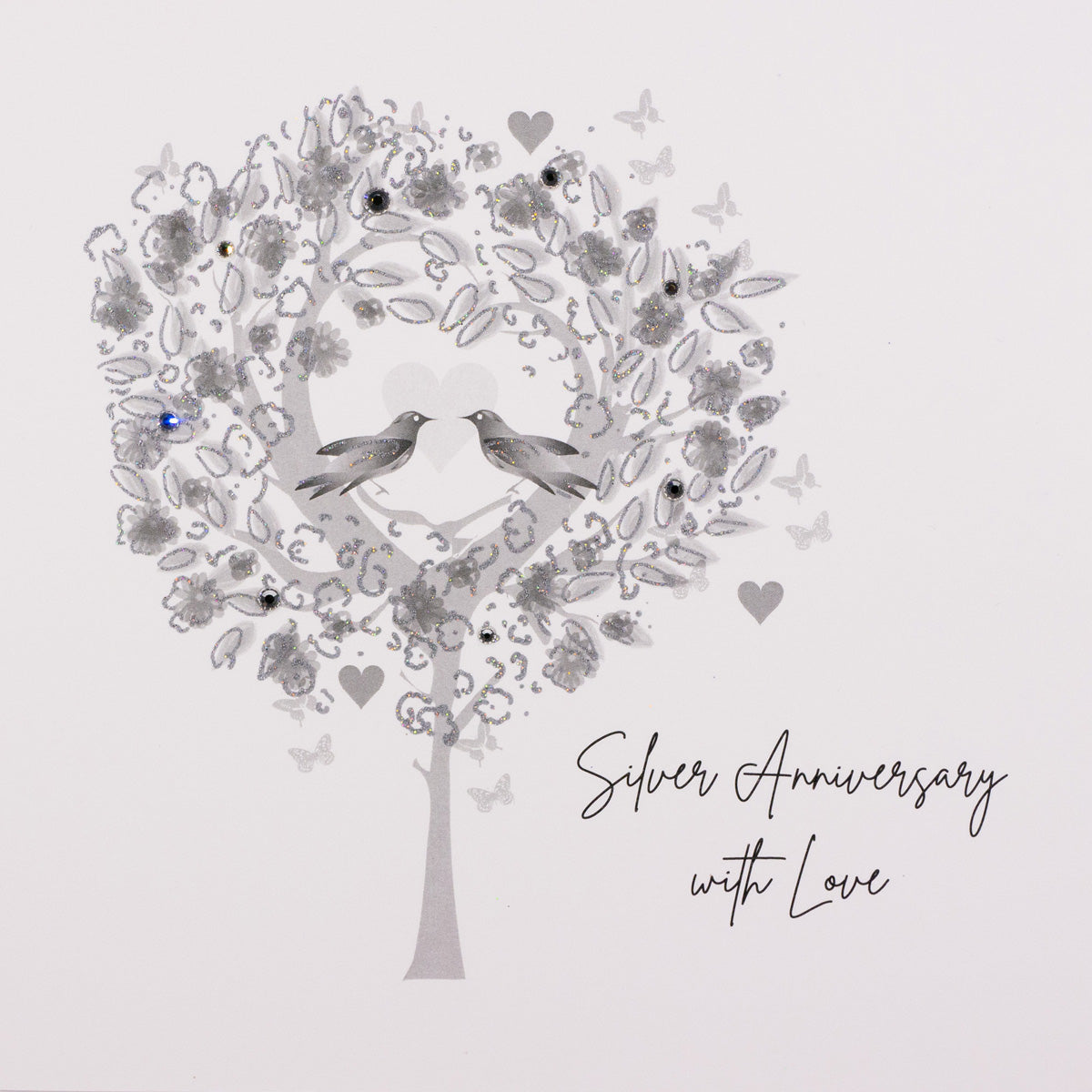 Five Dollar Shake Silver Anniversary Card - Tree