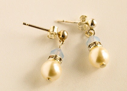 Millie Mini Earrings -Air Opal Blue