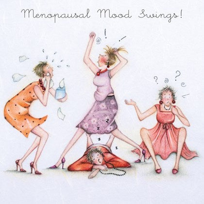 Berni Parker Blank Card - Menopausal Mood Swings