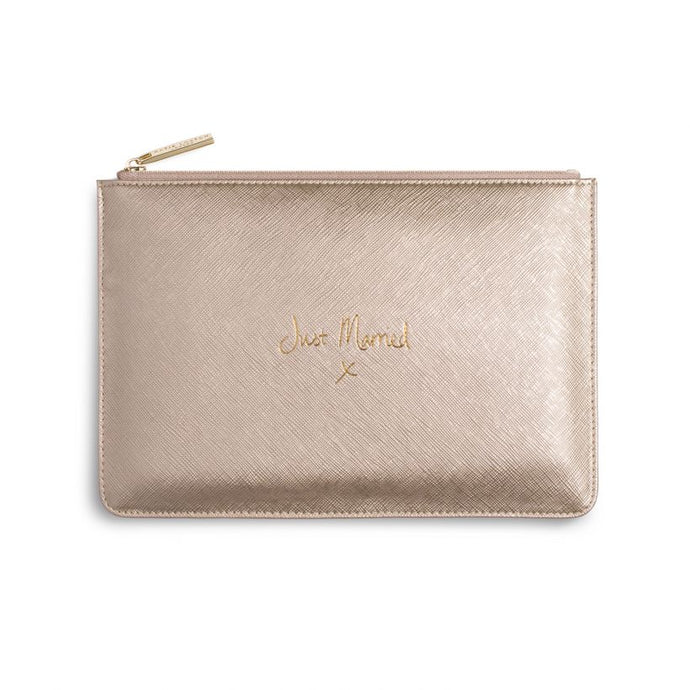 Katie Loxton Pouch - Just Married - Metallic Gold