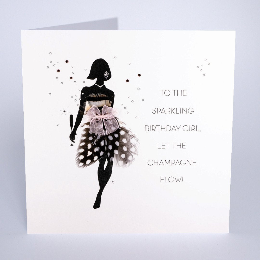 Five Dollar Shake Sparkling Birthday Girl Card