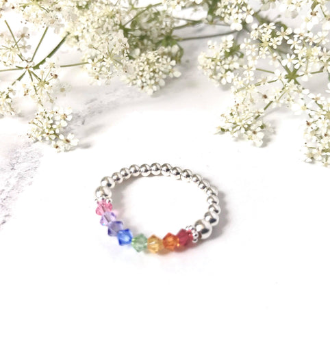 Jolu Jewellery Hope Rainbow Ring 🌈