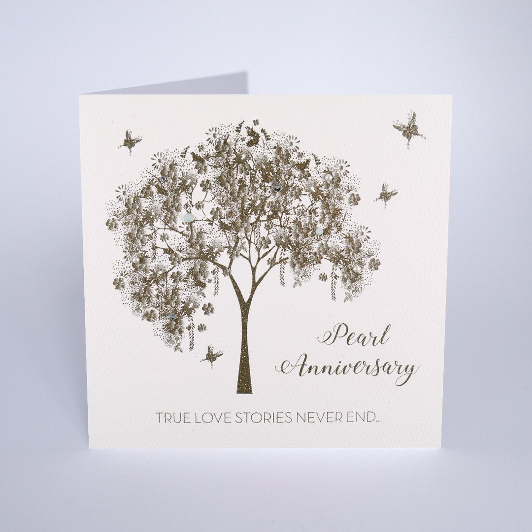 Five Dollar Shake Pearl Anniversary Card