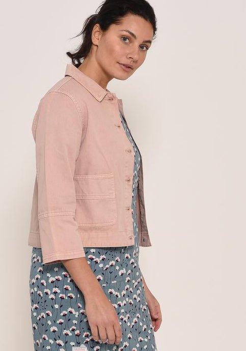 Brakeburn Unstructured Jacket Pink