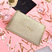Katie Loxton Perfect Pouch- Sparkle like Champagne-  Metallic Gold