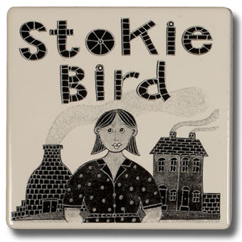 "Moorland Pottery ""Stokie Bird"" Coaster"