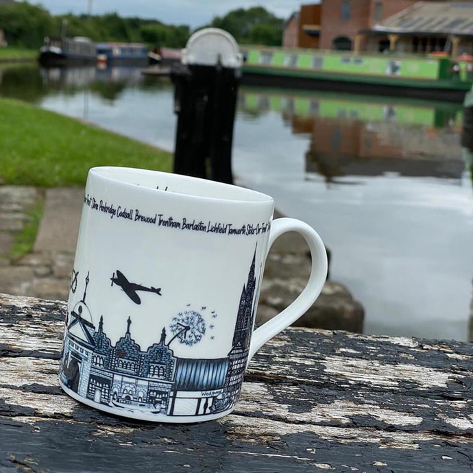 Megan Rose Design Staffordshire Mug