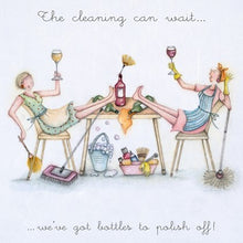 Berni Parker Blank Card - The Cleaning Can Wait