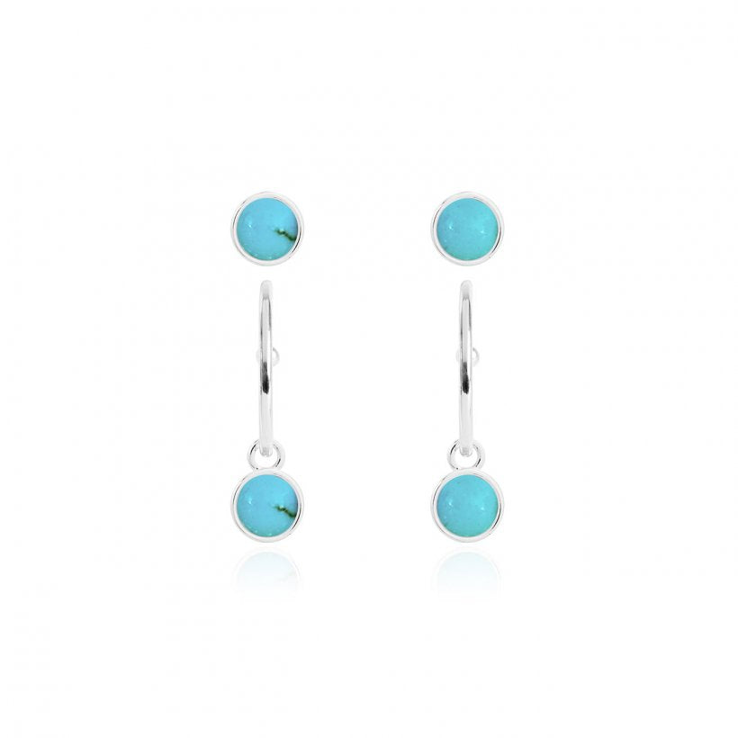 Joma Jewellery Signature Stones Earring Set - Turquoise